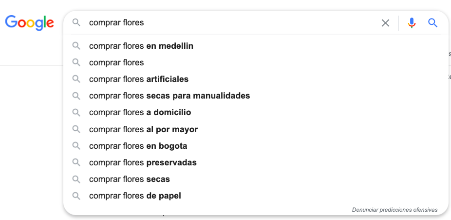 Ejemplo barra de busqueda Google