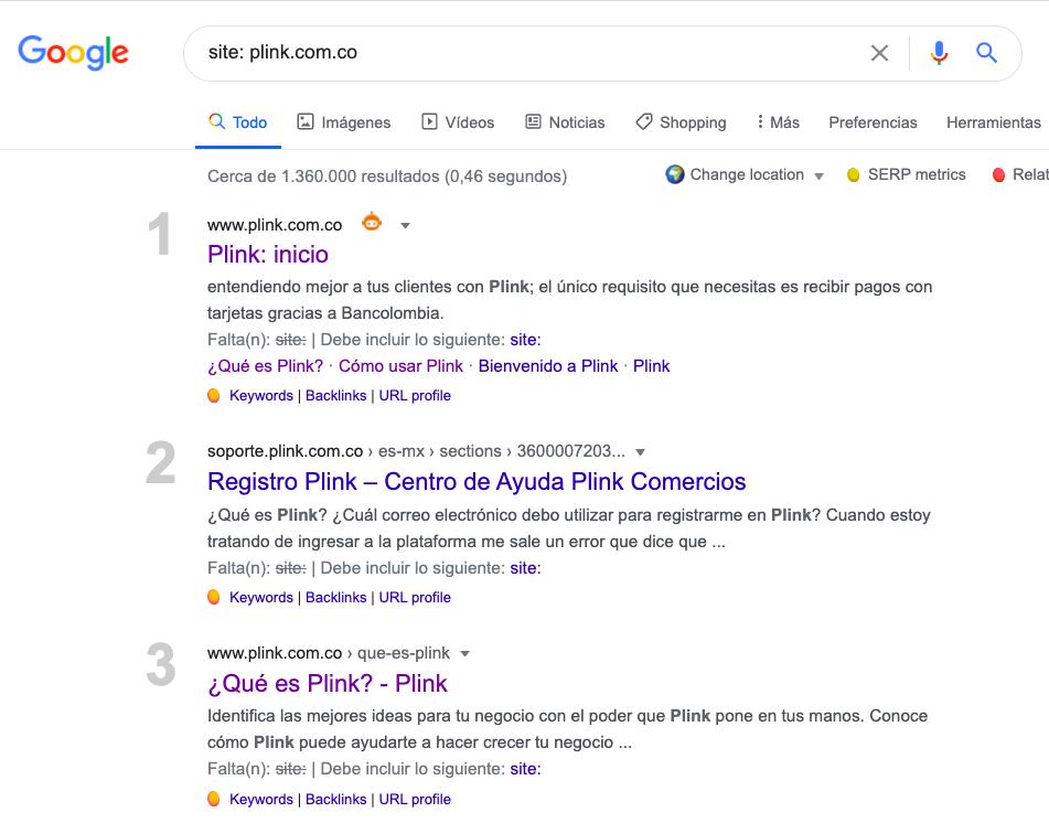 Ejemplo indexado sitio Plink